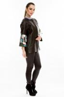Кожаная куртка средней длины на молнии_1