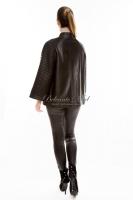 Кожаная куртка с расклешеными рукавами_2