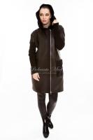 Кожаная куртка с текстильными рукавами_1
