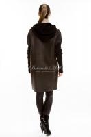 Кожаная куртка с текстильными рукавами_3