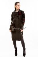 Кожаное пальто на пуговицах_0