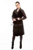 Двубортное пальто с поясом_0