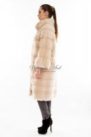Длинное норковое пальто в поперечном исполнении_1